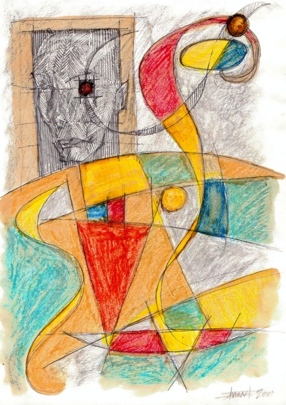 ABSTRACT, FACE, COLOUR, DETAIL,