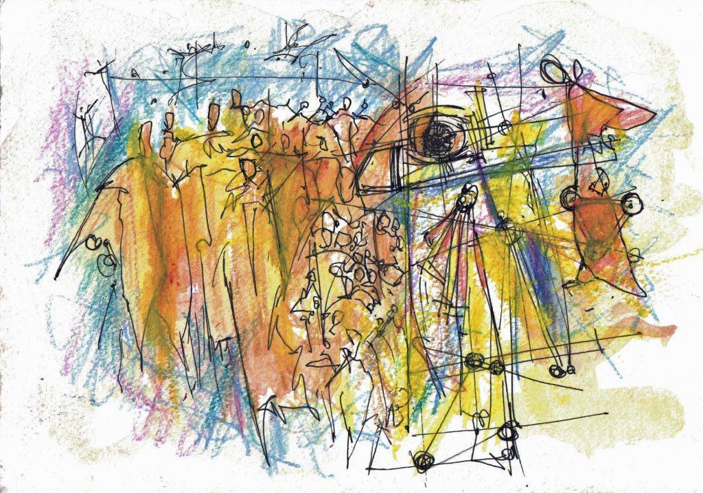 crowd, eye, people, angels,seeing, group